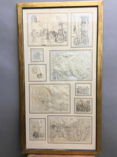 Decorative Collection of 18th Century Sketches (1 of 9)