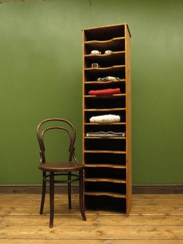 Antique Narrow Pine Pigeon Holes, Stationery or Haberdashery Display Shelves (1 of 10)