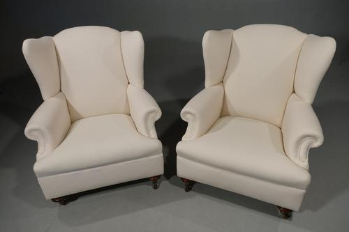 Substantial Pair of Edwardian Period Drawing Room Chairs (1 of 5)