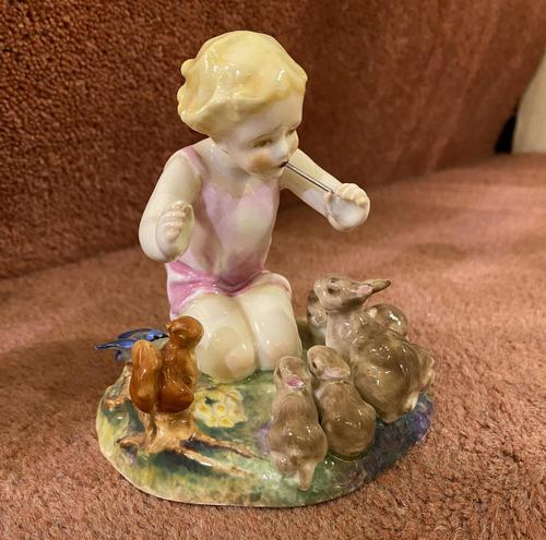"""Royal Worcester Porcelain Figurine – """"Woodland Dance"""" by Freda Doughty, dated 1939 (1 of 5)"""