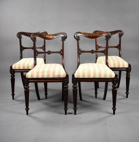 Set of 4 19th Century William IV Rosewood Dining Chairs (1 of 10)