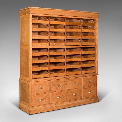 Very Large Antique Haberdashery Cabinet, Oak, Collector, Shop, Rack, Edwardian (1 of 12)