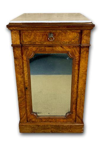 Single Burr Walnut Cabinet with Marble Top (1 of 7)