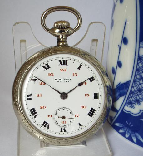 1910s Swiss Pocket Watch, H Perrin, Nevers (1 of 5)