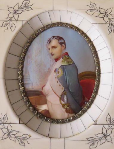 Hand Painted Miniature Portrait Napoleon Bonapart After Dumont (1 of 3)