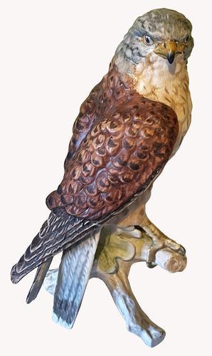 A Porcelain Falcon Eagle Hawk by Goebel of Germany (1 of 7)