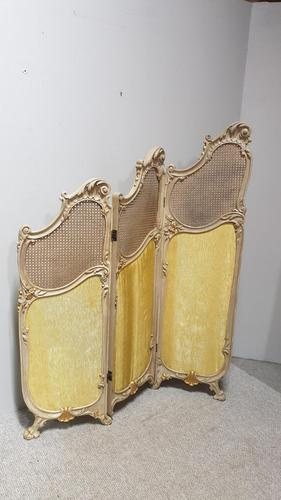 French Painted Three Fold Screen (1 of 14)