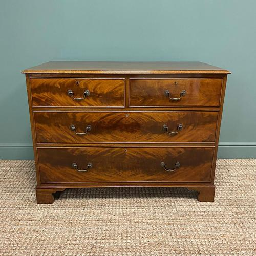 Quality Edwardian Flamed Mahogany Antique Chest of Drawers (1 of 5)