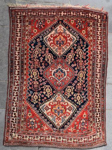 Antique Qasgai Tribal Rug 158x115cm (1 of 5)