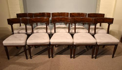 Set of Ten William IV Mahogany Dining Chairs (1 of 6)