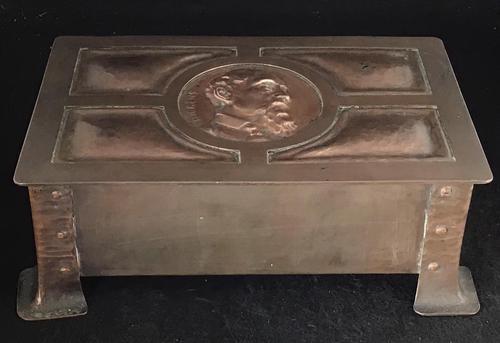 Arts & Crafts Copper Box (1 of 7)