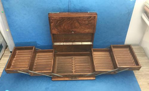 Victorian Brassbound Walnut Cigar Box (1 of 19)