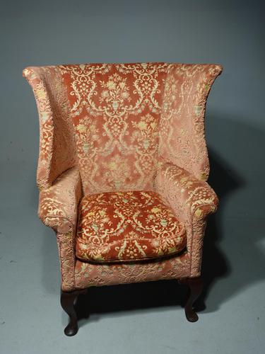 Fine & Well Shaped Late 19th Century Mahogany Framed Wing Chair (1 of 4)