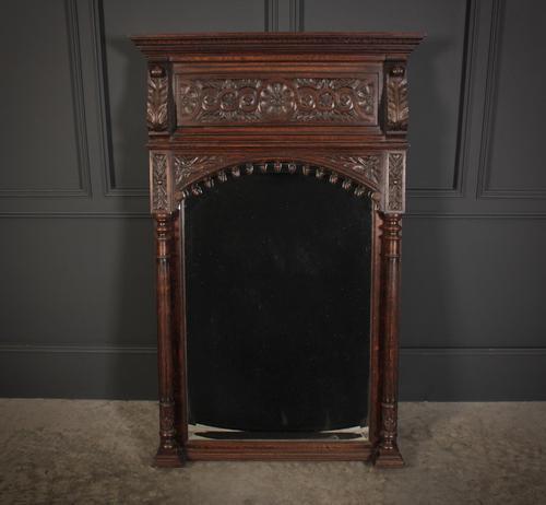 Carved Oak Pier Mirror (1 of 12)