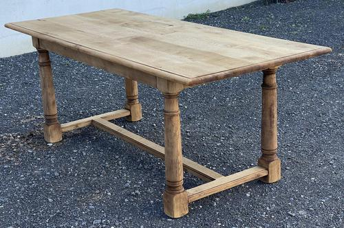 Rustic Bleached Oak Farmhouse Dining Table (1 of 25)