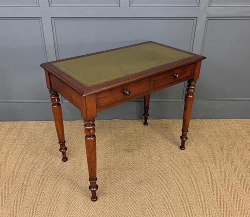Victorian Mahogany 2 Drawer Writing Table (1 of 13)