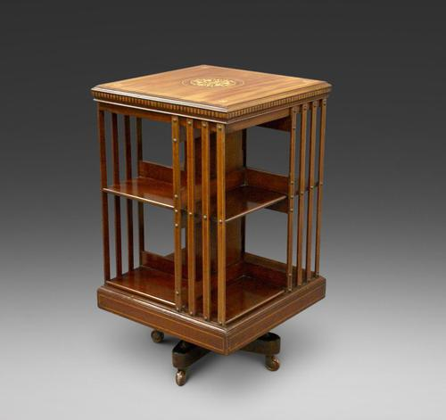 Mahogany Revolving Bookcase Attributed to Maple & Co (1 of 6)
