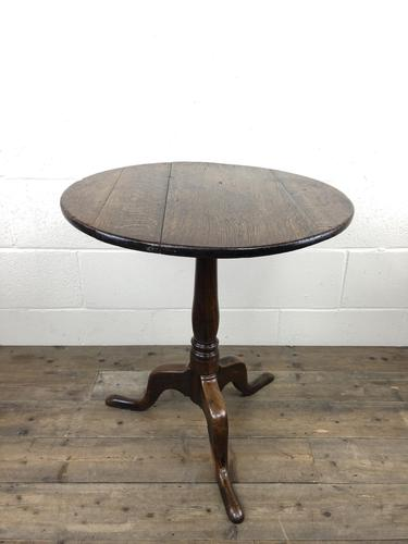Antique George III Oak Tripod Table (1 of 6)