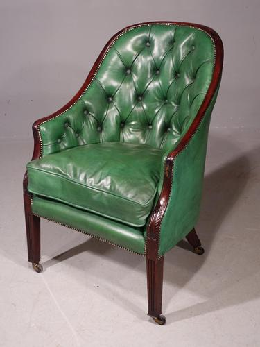 Good & Original George III Period Mahogany Library or Desk Chair (1 of 6)