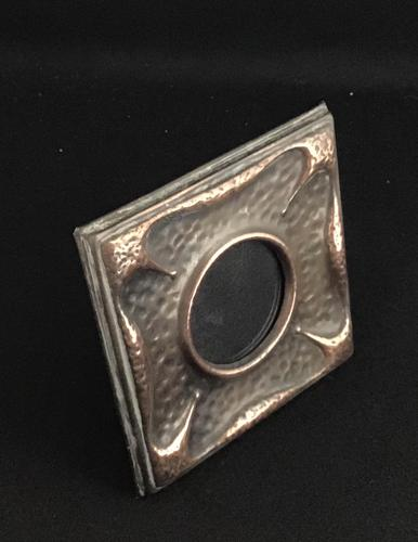 Small Arts & Crafts Copper Easel Photo Frame (1 of 4)