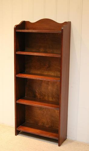 Slim Oak Open Bookcase (1 of 8)