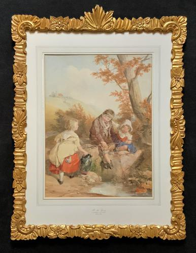John Henry Mole Exhibition Quality Regency Period Watercolour Painting (1 of 13)