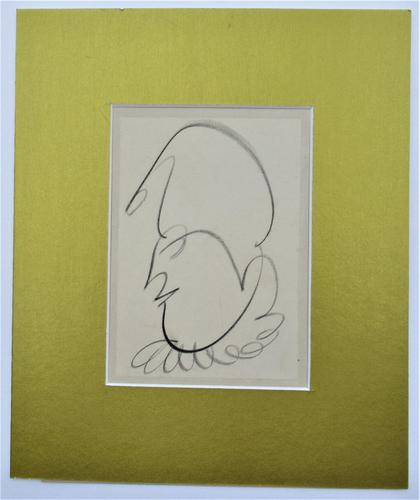 Norman Dudley Short (British), Pierrot, original crayon drawing, c1940, mounted (1 of 3)