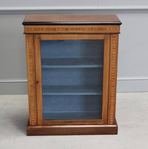 19th Century Walnut & Banded Display Bookcase (1 of 7)