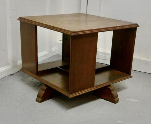Table Top Oak Revolving Bookcase (1 of 4)