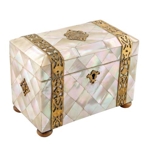 Mother of Pearl Tea Caddy (1 of 8)