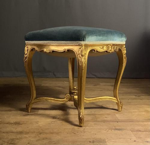 Beautiful French Giltwood Dressing Table Stool (1 of 12)