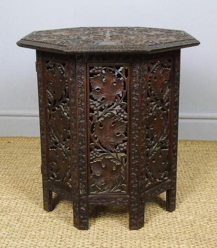 Anglo Indian Hand Carved Hardwood Table (1 of 6)