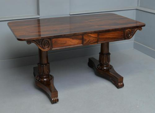 Stunning William IV Rosewood Library / Writing Table (1 of 22)