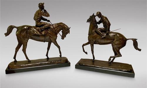 A. Tchernochtchekov - Bronze Pair of Horses & Jockeys (1 of 9)