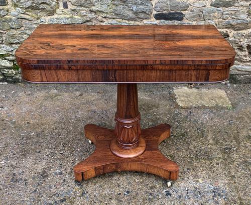 Regency Rosewood Card Table (1 of 24)