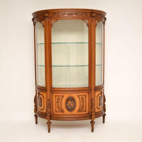 Antique Italian Walnut Display Cabinet (1 of 11)