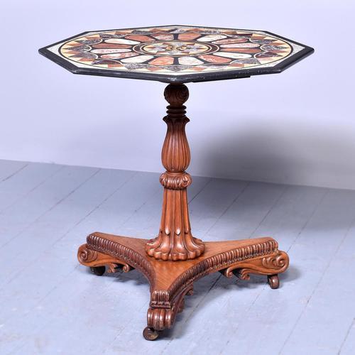 Antique Specimen Marble & Padouk Table (1 of 8)