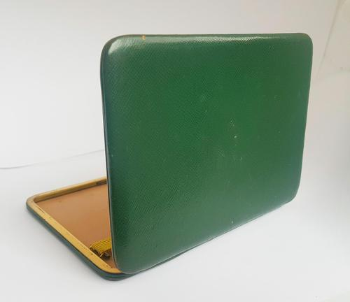 Rare Beautiful Large Green Leather Dunhill Cigarette / Card Case (1 of 9)
