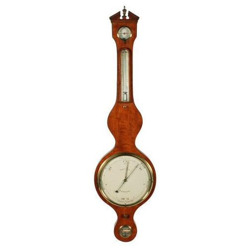 """Georgian Satinwood 10"""" Dial Barometer (1 of 8)"""