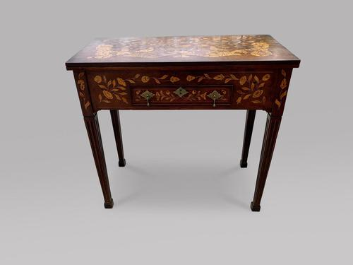 Dutch 19th Century Marquetry Card Table (1 of 6)