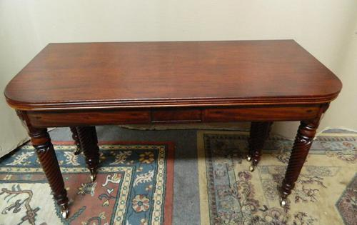 Large Regency Mahogany Concertina Action Dining Table (1 of 9)