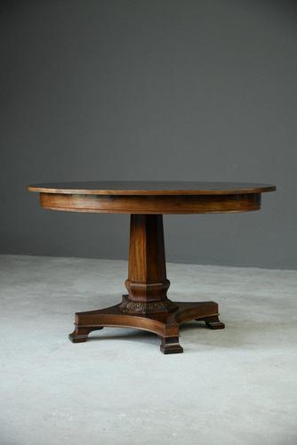 Antique Danish Mahogany Centre Table (1 of 10)