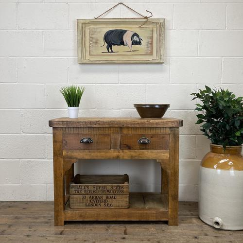 Rustic Wooden Sideboard with Two Drawers (1 of 10)