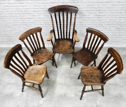 Combination Set of Windsor Dining Chairs (1 of 4)