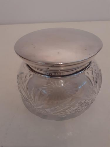 Crystal Bowl with Silver Lid, Hallmarked 1921 (1 of 3)