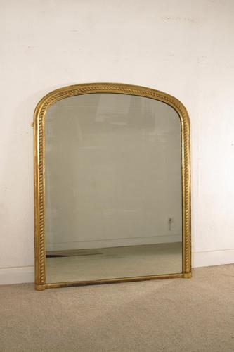 Gilt 'Rope Twist'  Arch Top Overmantle Mirror (1 of 8)