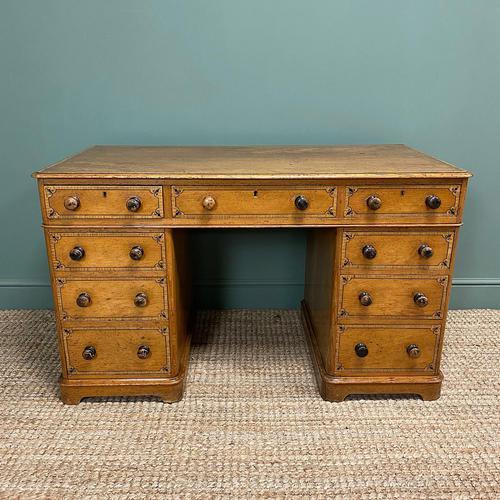 Unusual Victorian Painted Pine Antique Desk (1 of 6)