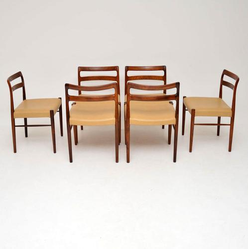 Set of 6 Danish Rosewood & Leather Dining Chairs by Soren Willasden (1 of 12)