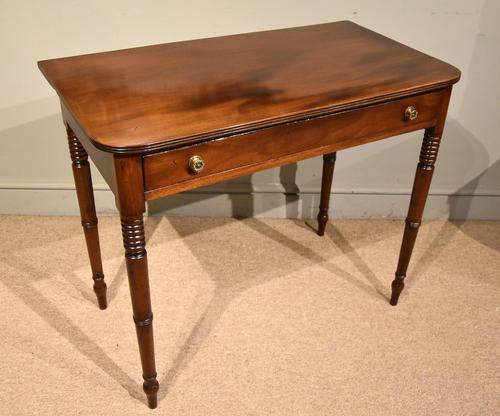 George III Single Drawer Mahogany Side Table (1 of 6)