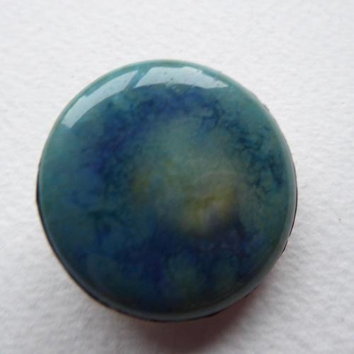 Arts & Crafts Pewter Brooch Mottled Blue Stone (1 of 5)